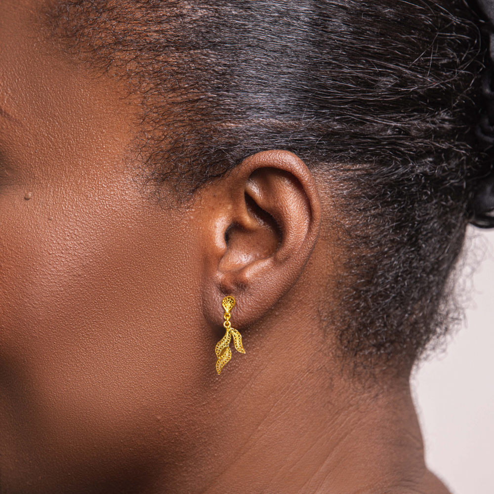 Boucles d'oreilles en or...