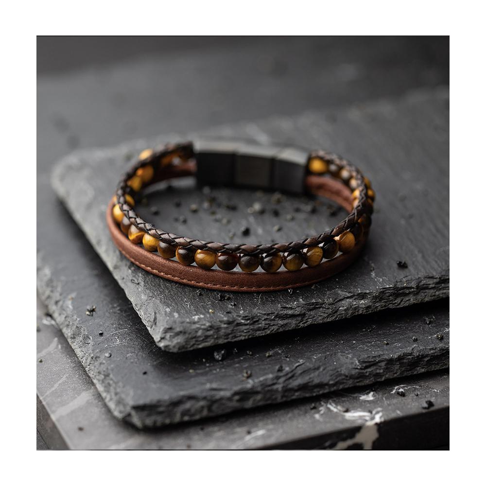 Bracelet Gemini Triple brun