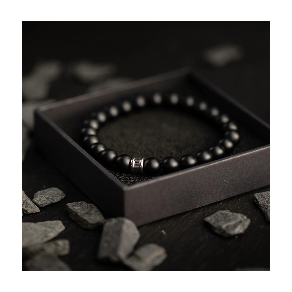 Bracelet Gemini Alpha Mat noir