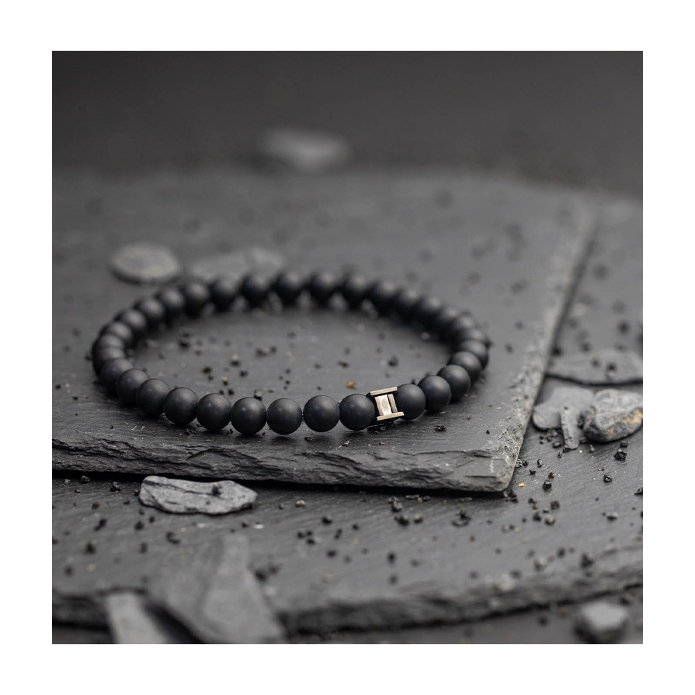 Bracelet Gemini Deep Black Mat