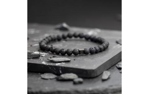 Bracelet Gemini Deep Black Lava