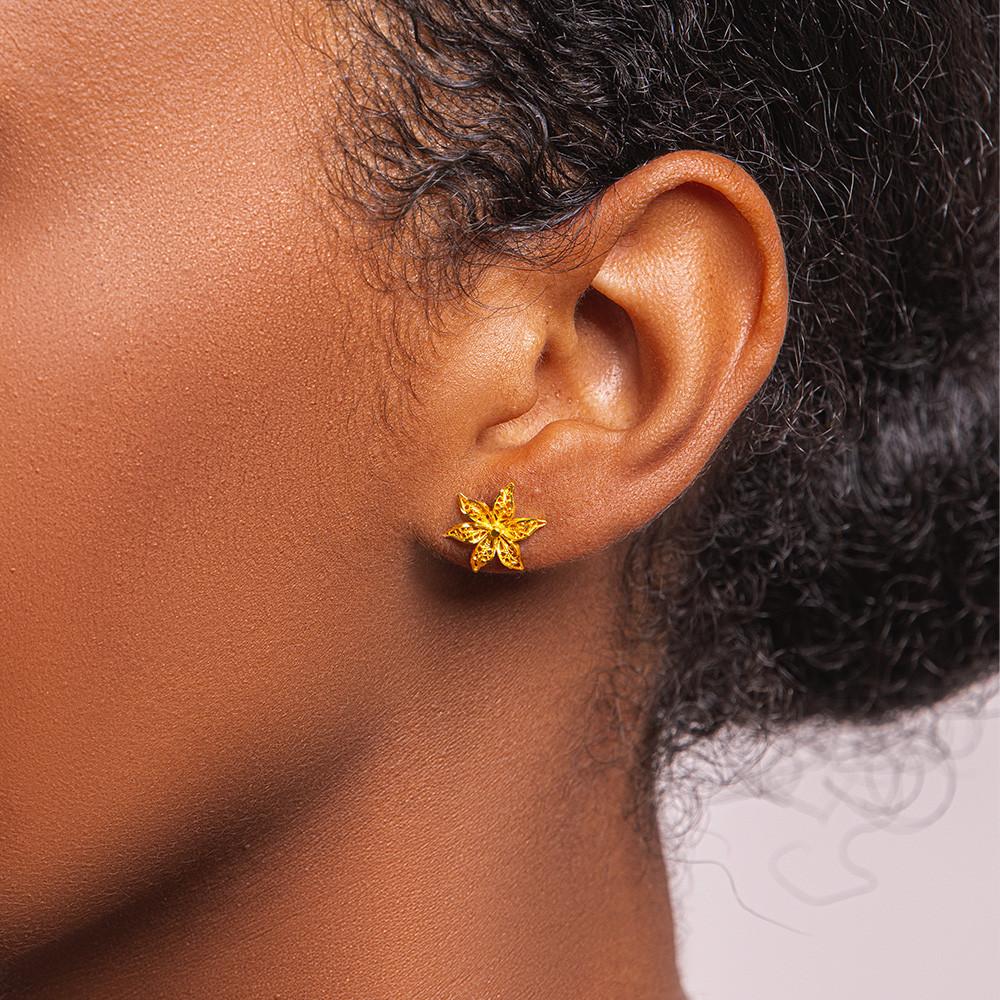 Boucles d'oreilles en or 18...